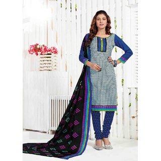 Jasmil Fashion Blue Coloured Printed Dress Material