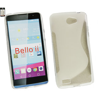 Emartbuy Phone LG Bello 2 Case Slim Gel Clear Wave
