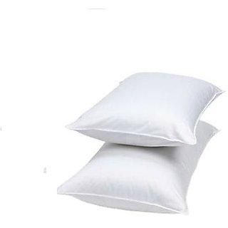 Redbear plain white cotton pillow