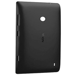 SAFAL - Replacement Battery Door Panel Housing Back Cover Case for Nokia Lumia 520 Black