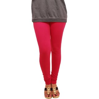 Ruby Gold Girls  Woman's Cotton Lycra Red Color Legging