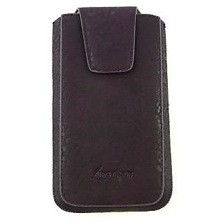 Emartbuy Classic Range Purple Luxury PU Leather Slide in Pouch Case Cover Sleeve Holder ( Size 5XL ) With Magnetic Flap  Pull Tab Mechanism Suitable For Gionee Elife E8 6 Inch Smartphone