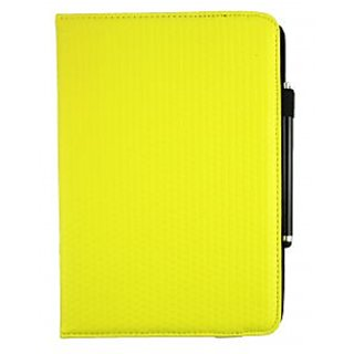Emartbuy Odys Windesk X10 10.1 Inch Tablet PC PC Universal ( 9 - 10 Inch ) Yellow Padded 360 Degree Rotating Stand Folio Wallet Case Cover + Stylus