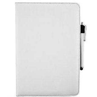 Emartbuy Odys WinPad V10 2 in 1 10.1 Inch Tablet PC PC Universal ( 9 - 10 Inch ) White 360 Degree Rotating Stand Folio Wallet Case Cover + Stylus