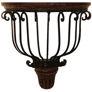 Beautiful Fancy Wood Wrought Iron Wall Bracket Holder Decorative Home Decor Gift