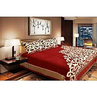 Riyasat- Pure Cotton Printed Jaipuri Double Bedsheet with 2 pillow covers