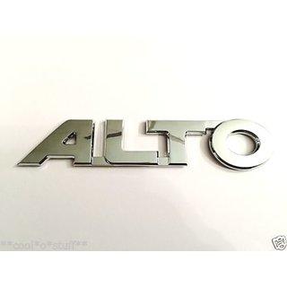 ALTO car MONOGRAM EMBLEM CHROME Maruti Suzuki ALTO VXi LXi ZXi Alto New