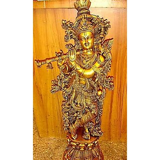 Lord krishna statue made with brass