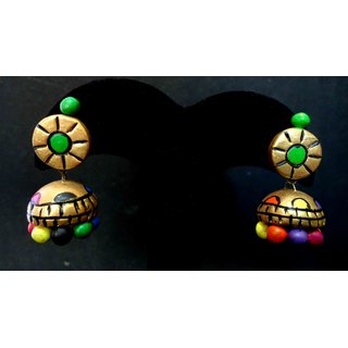 New Multi colour in Gold Pair of Terracotta Earring