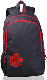 F Gear Castle  - Rugged Base Grey Red Backpack