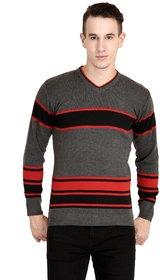 NEUVIN  Pullover Cardigan Dark Gray-Black Striped