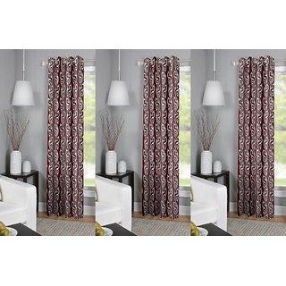 R Trendz Printed Window Curtain Set Of 3 (4x5)