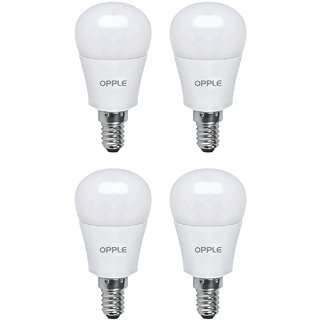 Opple LED Bulb 3W Warm White E14 (Combo Pack Of 4)