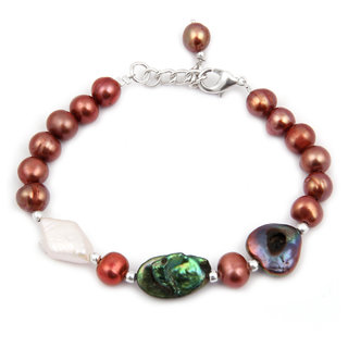 Pearlz Ocean Talisman Fresh Water Pearl 7.5 Inches Bracelet