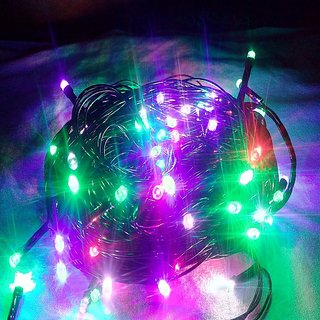 DIWALI DECORATIVE LED LIGHT FOR FESTIVAL PARTY PUJA CHRISTMAS NEW YEAR HOME DECOR RICE MULTI COLOR 100 Feet STRING