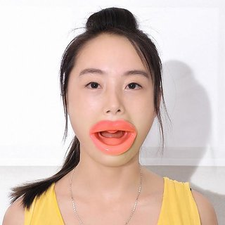 Importikah Face Slimmer Anti Wrinkle, Anti Aging, Muscle Oral Exercise Lip Trainer Silicon Lip Plump Exerciser
