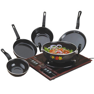 Non Stic Induction Cookware Set of 5 PCS Milton