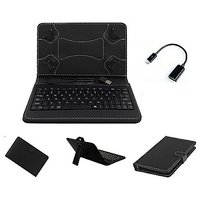 7inch Keyboard For Smart Tab SQ 718 Tablet - Black With OTG Cable By Krishty Enterprises