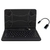 7inch Keyboard For Samsung Galaxy Tab-E T561 - Black With OTG Cable By Krishty Enterprises