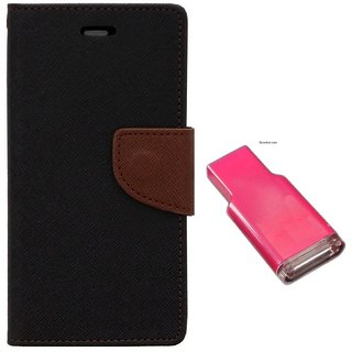 MERCURY Wallet Flip case Cover for Samsung Galaxy Note Edge N915G (BROWN)  With MEMORY CARD READER