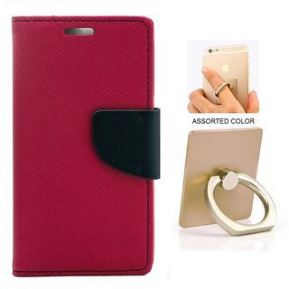 MERCURY Wallet Flip case Cover for HTC Desire 826 (PINK) WITH MOBILE RING STAND