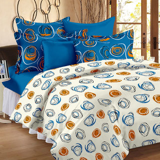 Story@Home 186 TC 100 Cotton White 1 Double Bedsheet With 2 Pillow Cover