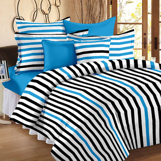 Story@Home 186 TC 100 Cotton White 1 Single Bedsheet with 1 Pillow Cover