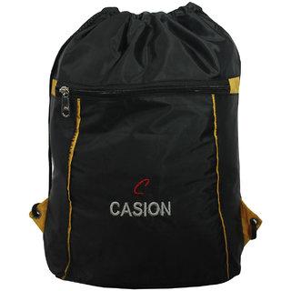 BagsHub Black Drawstring Backpack (B0643-0001500076-V0012)