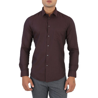 Integriti Brown Full Sleeves Casual Shirt For Men