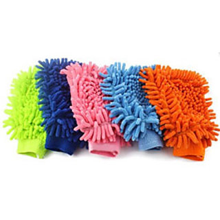 Microfibre Vehicle Washing Cloth(Multicolor, Pack Of 6)
