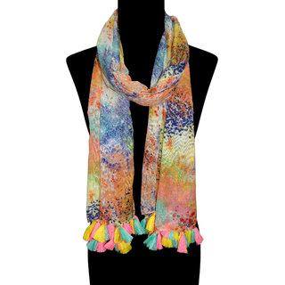 URBAN-TRENDZ Polyester Abstract Printed Scarf UT1463