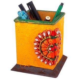 Gomati Ethnic Decorative Kundan Meenakari Wooden Pen Stand