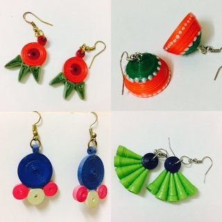 Beautiful eco friendly hand made earrings by Zakeeya V10