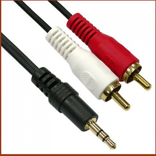 1.5 Meter 2RCA Male to 3.5mm Male Stereo Cable