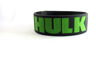 HULK Silicone ENGRAVED debossed wristband for studs