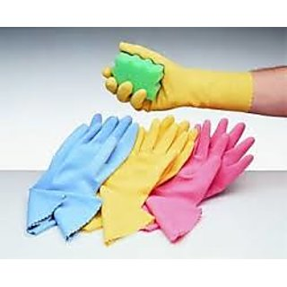 High Quality House Hold Rubber Gloves - 1 Pair