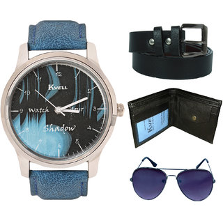 KVELL Men's Watch with Wallet, Assorted es   Belt  Combos-UMW-1129