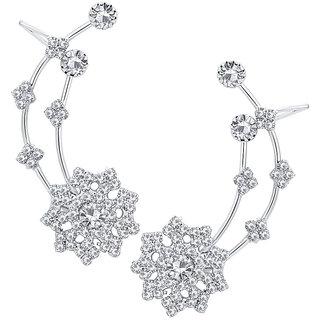 ShoStopper Attractive Rhodium Plated Australian Diamond Earcuff