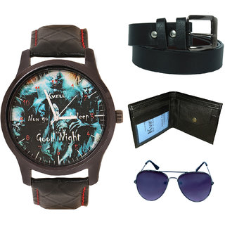KVELL Men's Watch with Wallet, Assorted es   Belt  Combos-UMW-1142