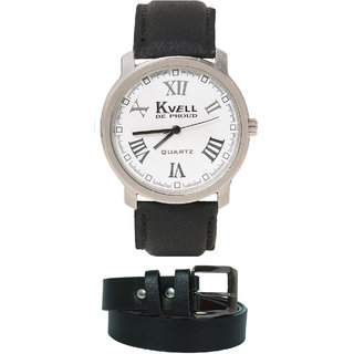 KVELL Men's Watch with Black Belt  Combos-UMW-1235