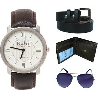KVELL Men's Watch with Wallet, Assorted es   Belt  Combos-UMW-1259