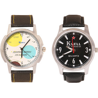 Kvell Be Proud Round Dial Black Analog Watch For Men -UMW-1020