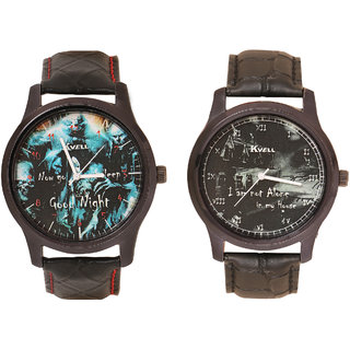 Kvell Be Proud Round Dial Black Analog Watch For Men -UMW-1040