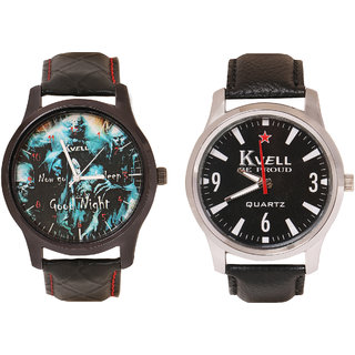 Kvell Be Proud Round Dial Black Analog Watch For Men -UMW-1041