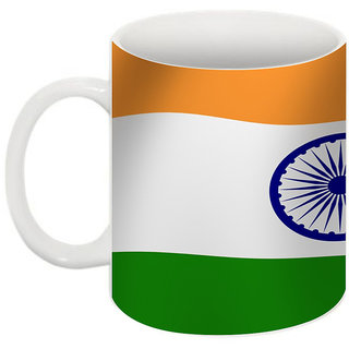 Abha Gaurav Creations Fine Independence Day Printed Coffee Mug