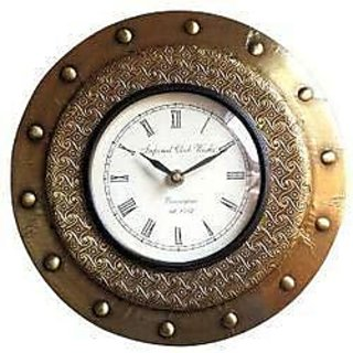 Stylish Brass Wall Clock