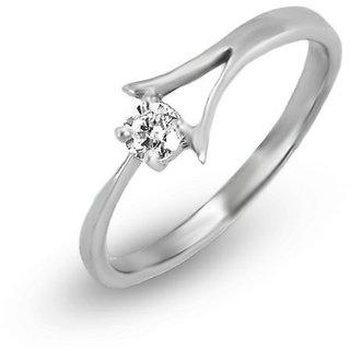 Tycarati Delicate Yellow Gold White Rhodium Finish Diamond Studded Ring