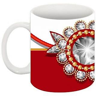 Abha Gaurav Creations Fine Raksha Bandhan Printed Coffee Mug