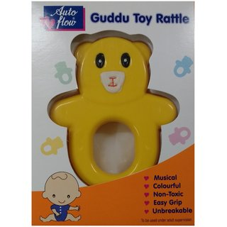 Auto Flow Rattle Toy - Guddu Toy - BT24 Yellow