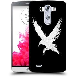 Snoogg White Bird Designer Protective Back Case Cover For LG G3 STYLUS